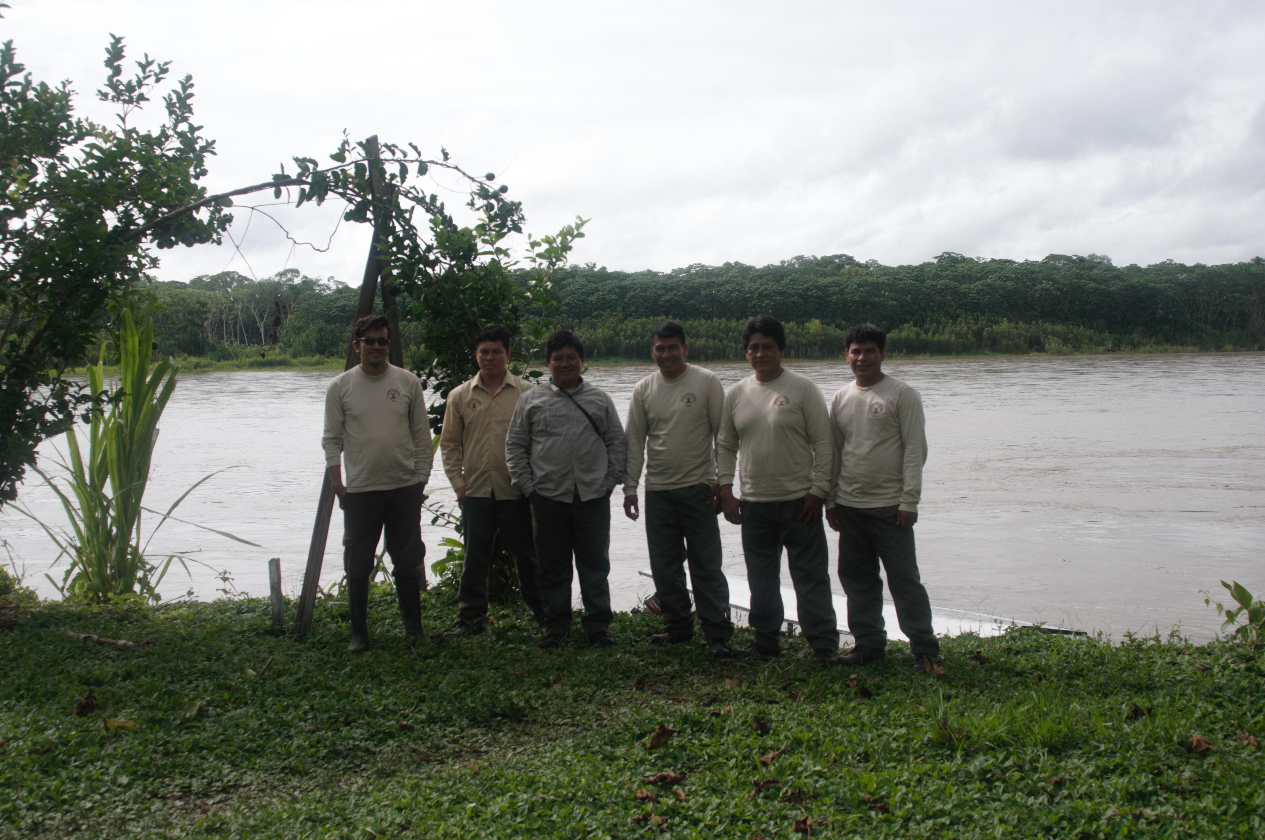 Promotores de Conservación (left to right): Helmut Rengifo; Janer Deyvis Vargas; Amancio Zumbeta; Jose Manuel Shuña; Hernán Collado; Juan Canayo (credit: Carlos R. Garcia)