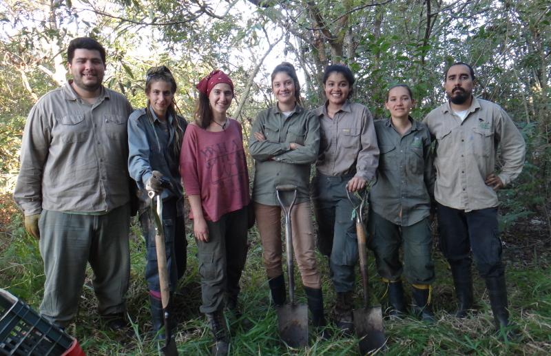 Volunteers at Reserva Natural Rincon de Santa Maria, Argentina