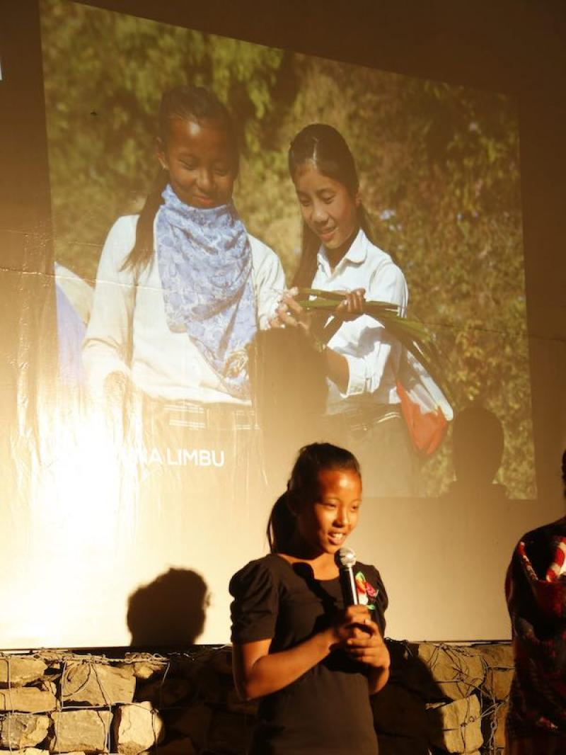 Movie night students explain indigenous knowlegde portal back to community