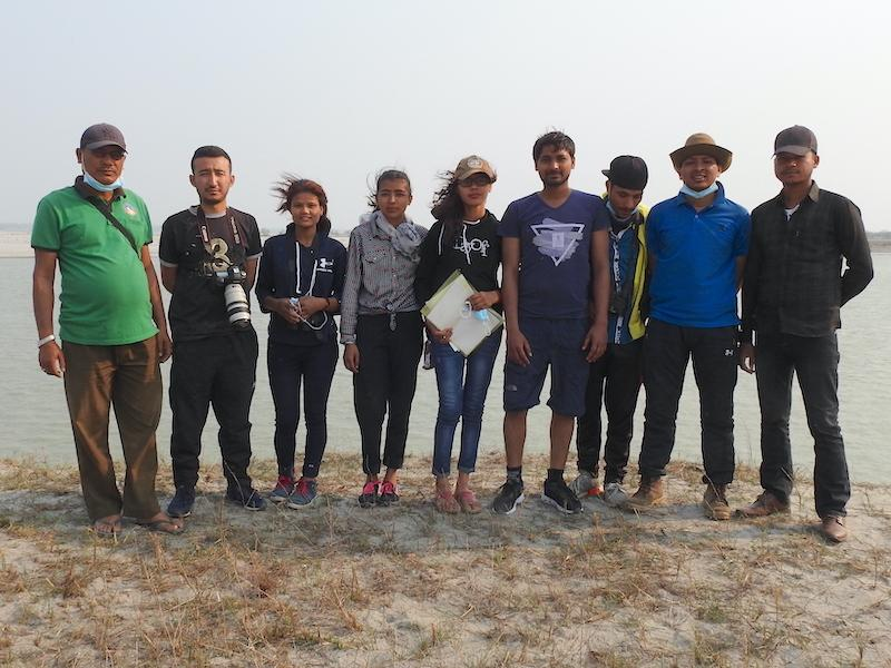 Field participants at Koshi River