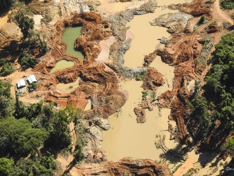 Gold mining destruction