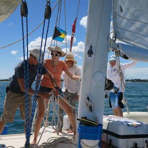 Sails up (photo: Scott Hecker)