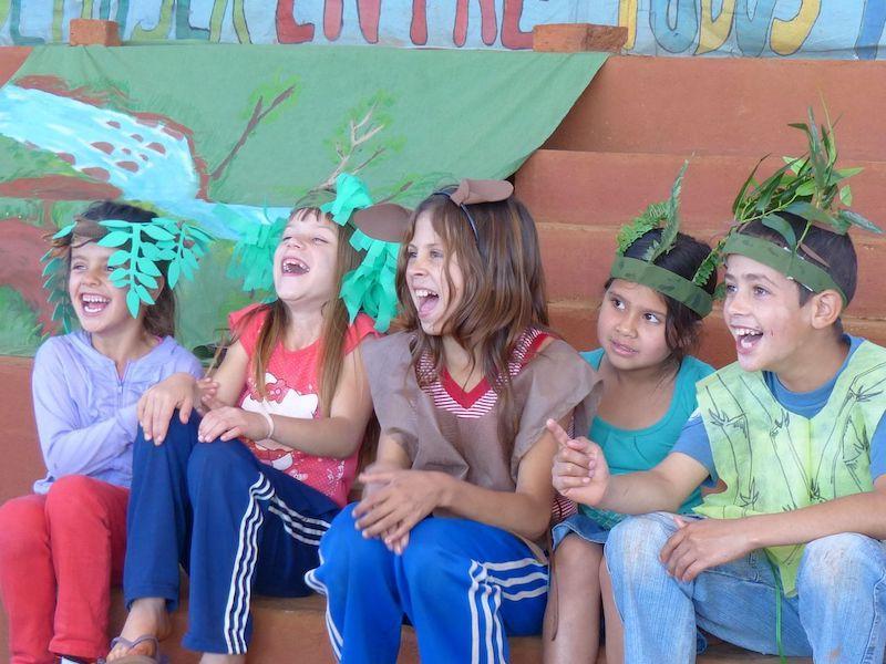 Atlantic forest play at Polvorin School