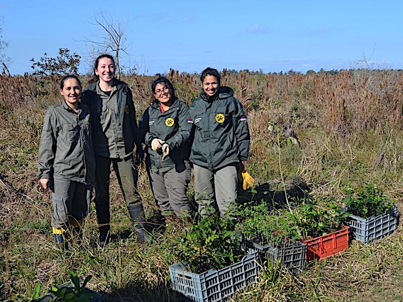 Volunteers at work crew