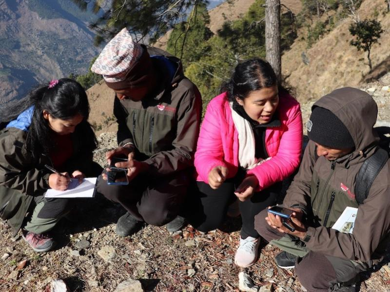 Forest guardians learning to use mobile device for red panda monitoring