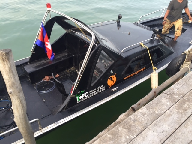 This speedboat, bought used and refurbished, has upped the safety and effectiveness of our surveillance and protection efforts.